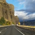 oregon - driving into the state somewhere
